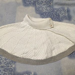 Baby Knit Sweater with Sparkly Gray Trim
